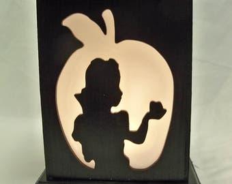 Snow White wooden lantern