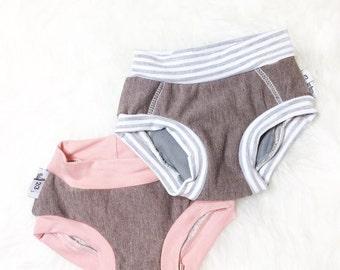 Toddler Training Underwear, Unisex Hipster Underwear, Potty Training