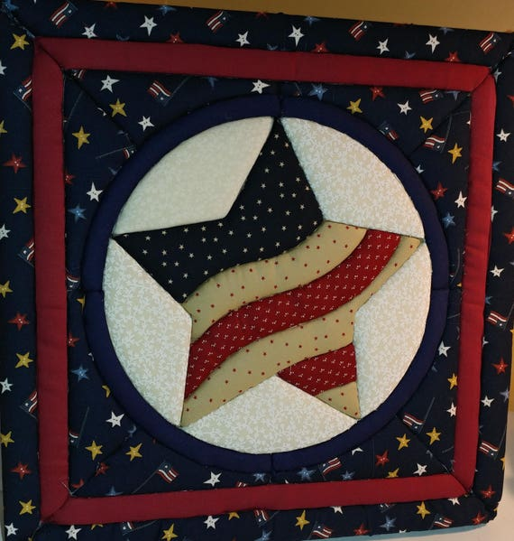 CHARITY Patriotic Quilted Hanging