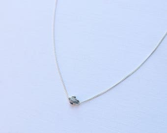 Dainty Silver Sea Turtle Necklace, Beach Jewelry, Handmade Necklace