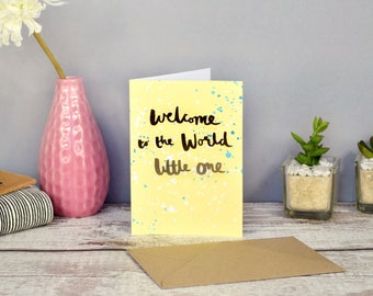 Welcome to the World Little One | Gold Foil