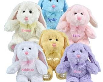 Personalized Easter Bunny , Stuffed Bunny , Personalized Stuffed Rabbit