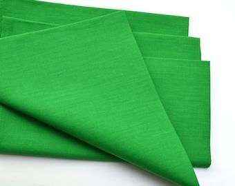 Napkins Festive Green Cotton Set of 4