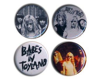 Babes in Toyland Buttons Pin Badges 25mm 1inch Badge Button Riot-Grrrl