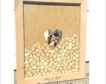 Personalized Handcrafted Wedding Shadow Box Unique Guest Book Keepsake Shower Gift
