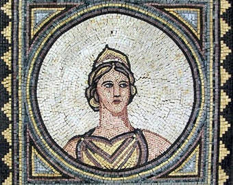 Greek Goddess of Hearth - Mosaic Reproduction