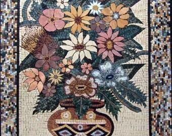 Roman-Oriented Floral Mosaic