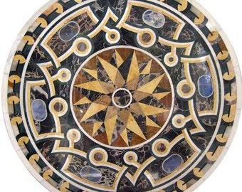 Waterjet Marble Art Piece Medallion Inlay - Galileo