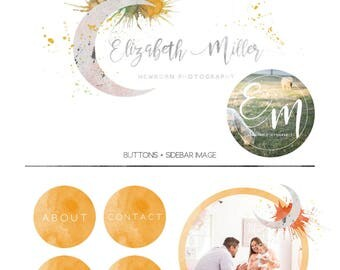 Celestial Moon Newborn Photography Branding Kit