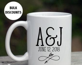 Coffee Mug Wedding Favors, Alternative wedding favors, custom infinity mug, infinity symbol wedding favors, Custom Mug Favors, -MF4