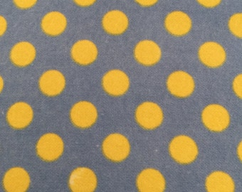 Little One Flannel Too Blue with Yellow Dots from Maywood Studios