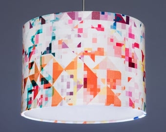 Studio Flock Northmore Minor Geometric Fabric Lampshade Pendant
