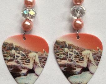 1 Pair- Led Zeppelin Guitar Pick Earrings