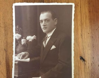 1920's Post Card - Handsome Man
