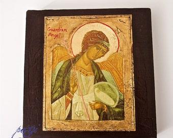 Icon on wood handmade
