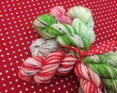 Christmas Candy pack -sock/4ply-mini skein pack - 5,40 yards .200 yards