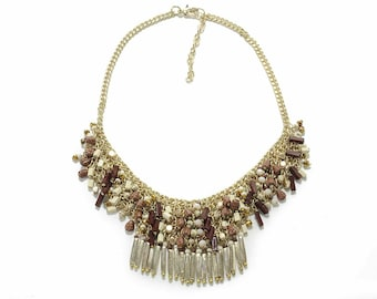 Necklace Glass Beads Cleopatra Style