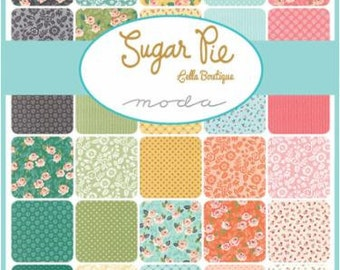 Sugar Pie Charm Pack by Lella Boutique for Moda Fabrics - 40, 5 inch squares - 100% Cotton - Modern Geometric - sample spree - floral