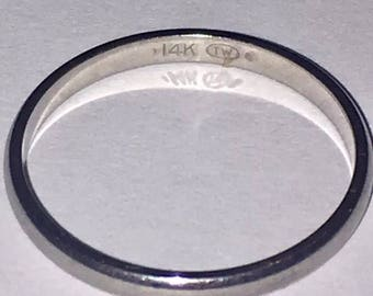 14k White Gold (1.4 Grams) Wedding Band Ring ~Classic Size 7