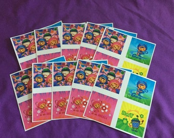 10 Team Umizoomi Sticker Sheets (4 stickers per sheet) Party favors