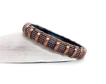 Copper Tone Bangle Bracelet, Hinged Bangle Bracelet, Thin Bangle, Copper Bangle, Copper Bracelet, Cookie Lee Bracelet, Cookie Lee Jewelry