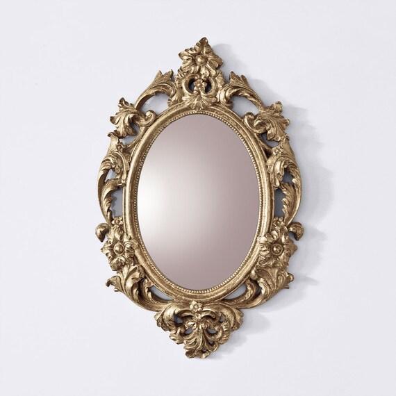 Miroir baroque style vintage miroir ovale vintage miroir for Miroir style baroque