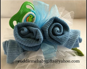 Baby Shower Baby Baby Shower Baby Sock Corsage with Pacifier