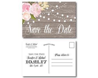 PRINTABLE Save the Date Postcard, Printable Save the Date, Wedding Save the Date, Save-the-Date, Wedding Postcard, Save our Date #CL138