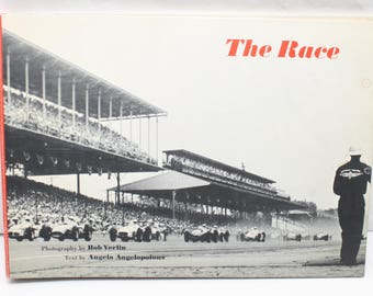 The Race 1958 Book, by Angelo Angelopolous, Photos Bob Verlin, signed by Don Freeland, Indy 500