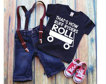 Thats how Ruff Ryders Roll/ Ruff Ryders/ Roll/ Ruff Ryders Boy Shirt/ Boy Shirt/ Birthday Gift/ Ruff Ryders Roll/ Wagon/ Wagon Shirt