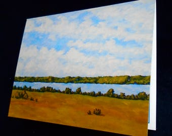 """Skaneateles Lake (Set of 6 print reproduction greeting cards) 4"""" x 5.5"""" by Mike Kraus"""