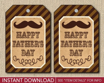 Father's Day Gift Tags - Printable Fathers Day Gift Tags - Printable Digital File - INSTANT DOWNLOAD