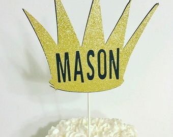 Where the Wild Things Are Crown Cake topper/ Wild things name cake topper/ Wild one party