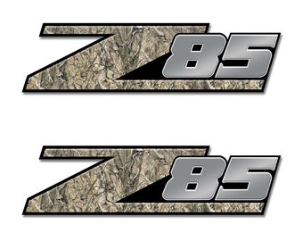 Camouflage - Obliteration Skull Z85 Truck Camo Graphic Decal (2 Pack) 4x4 Offroad Ford Chevy Toyota Dodge A003Z85