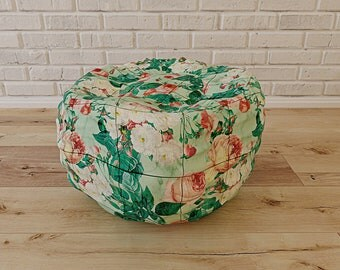 Floral and Marble Bean Bag