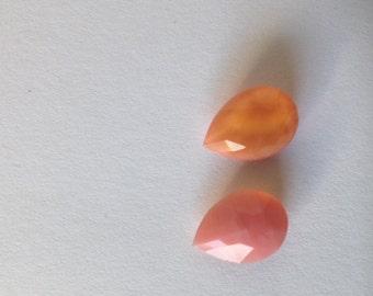10 orange tear drops 14x10 mm
