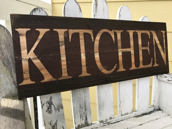 Rustic Kitchen Sign In Red Kitchen Sign Rustic Kitchen