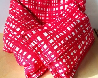 Red Plaid Heating Pad - Removable Inserts