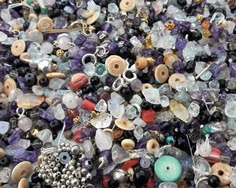 Assorted Small Beads, inc Semi precious stone & Some Jewelry Findings 400g