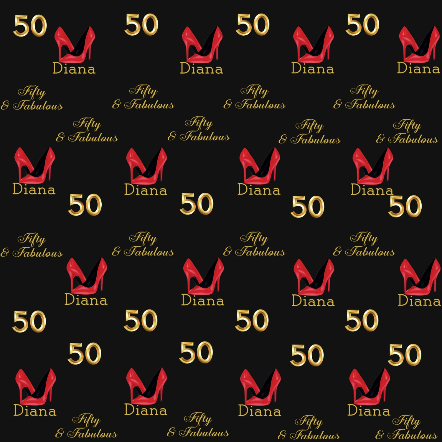 50 And Fabulous Backdrop: Photo Backdrop Stepping Into 50- Step And Repeat
