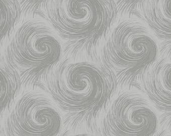 """Breezy 108"""" Wide Back Circular Print Gray On Gray By Henry Glass & Co BTY"""