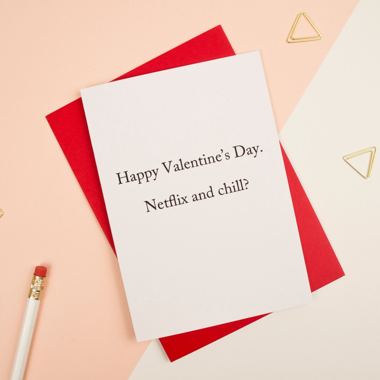 Netflix and Chill Valentine's Card