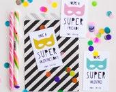 You're a Super Friend Classroom Valentines, Customized Kid's Valentine, printed or digital pdf