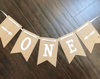 """First Birthday """"One"""" Banner, any age, Wild One Theme, Highchair Mini Banner"""