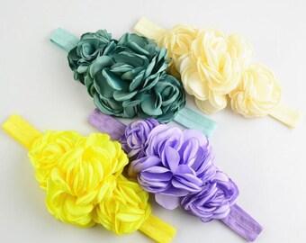 Fashionable  Baby Headdress 3 Roasted Flower Combination Hair Band  -YTA74