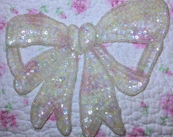 Assorted Sequined Appliques LOT of (5) Pearls Beads #1 FREE SHIPPING