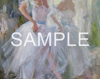 Fabric Art Quilt Block - Ballerina Painting 17-041 FREE SHIPPING