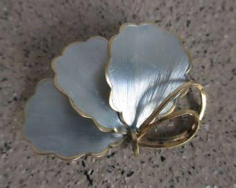 Pastel Blue Leafed Brooch