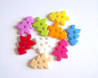 buttons tree pack 50 mix colour plastic buttons