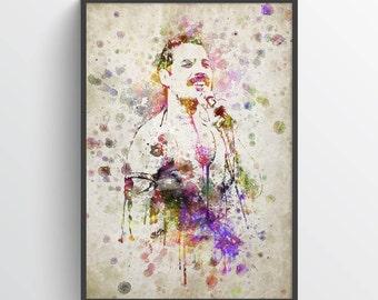 Freddie Mercury Poster,Freddie Mercury Print, Freddie Mercury Art,Freddie Mercury Decor, Home Decor, Gift Idea